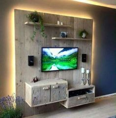 20 Brilliant DIY Pallet Furniture Design Ideas to Inspire You - diy pallet creations Pallet Walls, Wooden Pallet Furniture, Unique Furniture, Wood Pallets, Diy Furniture, Furniture Design, Pallet Wood, Diy Pallet, Diy Wood