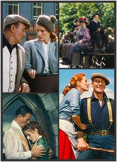 John Wayne and Maureen O'Hara, The Quiet Man via Pinterest Happy St. Patrick's Day
