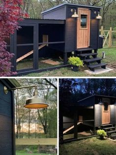 Check out this Scandinavian style chicken coop, and see 19 other backyard chicken coop ideas. | The Most Beautiful Chicken Coops We've Ever Seen Chicken Coop Designs, Cute Chicken Coops, Chicken Coop Run, Diy Chicken Coop Plans, Chicken Garden, Chicken Feeders, Chicken Tractors, Moveable Chicken Coop, Urban Chicken Coop