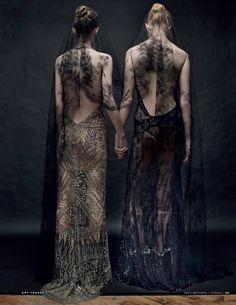 Vogue Russia December 2014 | Dani Witt & Katherine Mackel by Amy Troost