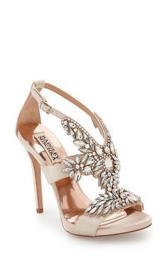 Badgley Mischka 'Capella' Crystal Embellished Platform Sandal (Women)