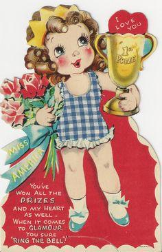 Vintage 'Miss America' Valentine