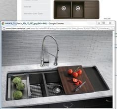 Blanco Sil-Granit multi purpose sink... a man-made material that cleans without the use of heavy detergents...