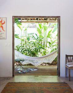 ~ <3 Hammock <3 ~ (pic from Elle Decor Uk/ July/2013 Issue- Brazilian summer house)