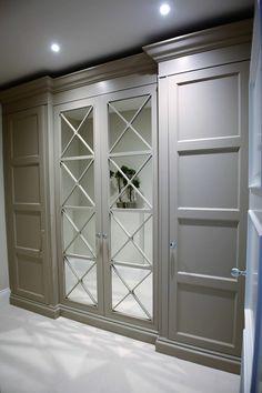 ideas for bedroom wardrobe storage design Bedroom Closet Doors, Bedroom Cupboards, Bedroom Wardrobe, Wardrobe Doors, Wardrobe Storage, Hallway Closet, Luxury Wardrobe, Glass Cabinet Doors, Glass Door