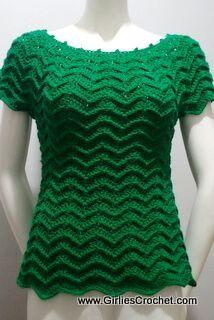 free crochet pattern, easy, top, pattern for beginners, chevron design