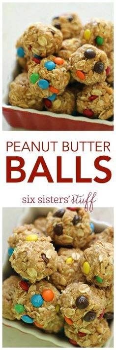 """Peanut Butter Balls from <a href=""""http://SixSistersStuff.com"""" rel=""""nofollow"""" target=""""_blank"""">SixSistersStuff.com</a> 