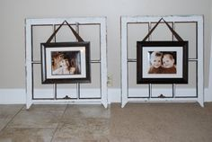 Old Window Panes frame new photos