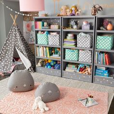 Searching for kids playroom ideas? The Land of Nod has tons of inspiration for every girls or boys playroom design. We all know that any playroom should be filled with personal and stylish details. That's why we've got a mega lineup of kids fu Kids Storage, Storage Design, Storage Ideas, Toy Storage, Playroom Storage, Organized Playroom, Family Room Design, Kids Room Design, Playroom Design