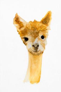 o.g.alpaca PRINT. $175.00, via Etsy.