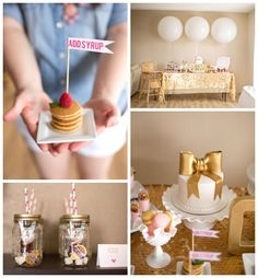 Pj's and Pancakes Themed 1st Birthday Party {Ideas, Decor, Planning} #firstbirthday #pajamaparty #pancakeparty #karaspartyideas #partydecor #partyideas