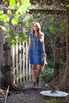 boho bird Adore Me Denim Dress - Womens Knee Length Dresses - Birdsnest Online