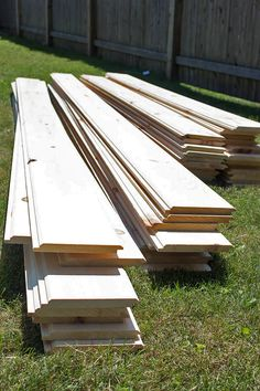 Install shiplap inexpensively with my easy home improvement tips and tricks. Your home is about to look so much better after you install shiplap! Shiplap Siding, Shed Makeover, Installing Shiplap, Home Improvement Loans, She Sheds, Ship Lap Walls, Home Reno, My Dream Home, Future House
