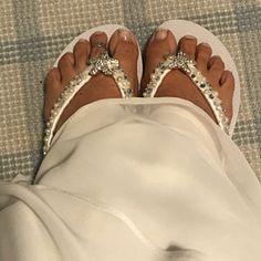 Items similar to Bridal Flip Flops/Wedges. on Etsy Bride Flip Flops, Bridesmaid Flip Flops, Bridesmaid Sandals, Beach Wedding Sandals, Wedding Flip Flops, White Wedding Shoes, Bridal Sandals, Diy Leather Sandals, Flip Flop Shoes