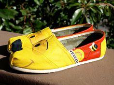 KOOAK Kustoms Disney Pooh-Inspired Toms Flats on Etsy, $115.00