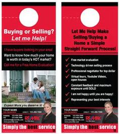 Keller Williams Door Hangers reamark real estate door hanger - get noticed in your neighborhood