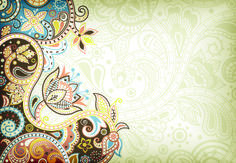 Floral decorative pattern background 06 - Vector Background free download