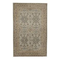 grey rug 9x12   Ballard Carlson Rug, muted tones of gray-blue, latte linen and ice ...