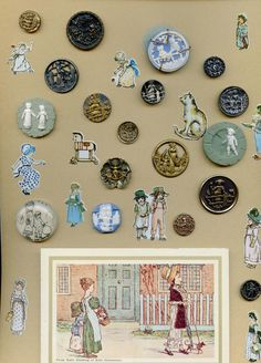 Pegsbuttons  my collection of Kate Greenaway buttons