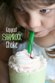 The Best Copycat Shamrock Shake! {Make the original recipe OR she shows you how  to add an unnoticed handful of spinach!} FamilyFreshMeals.com