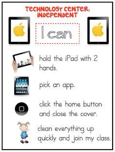 iPad rule poster