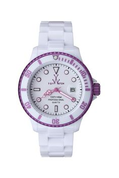 Women's Plasteramic White/Purple Watch on HauteLook