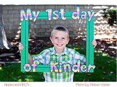 Apples and ABC's: First Day of Kindergarten Photo