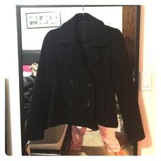 Theory Short DBL Breasted Peacoat - Black - Sz. 2 Authentic Theory Double Breasted Short Coat. - Size 2 Theory Jackets & Coats Pea Coats