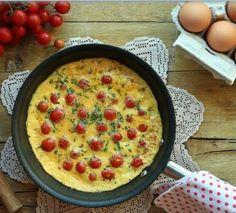 Frittata de tomate cereja e cebolinho | SAPO Lifestyle
