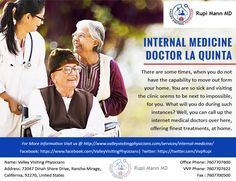 Looking For Specialist Internal Medicine Doctor in La Quinta We have highly experienced Doctor providing vest services.