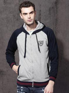 Winter Wear For Men, Hooded Sweatshirts, Hoodies, Neck T Shirt, Hooded Jacket, India, Grey, Sweaters, Jackets