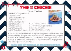 Table Talk from The 6 Chicks: Favorite Dish for 4th of July - Tuna Tartare