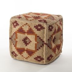 Shop for Kilim Design Jute Wool Blend Pouf Ottoman. Ships To Canada at Overstock.ca - Your Online Home Decor Outlet Store!
