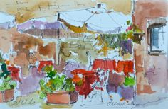 Dreama Tolle Perry » Artist and Writer » Taking the Plunge in Watercolor!