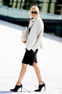 On Celine Aagaard of Hippie Milkshake: Designers Remix by Charlotte Eskildsen jacket; Samsøe Samsøe t-shirt; FWSS shorts; Alexander Wang shoes; Mulberry bag; Céline sunglasses.