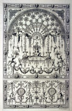 """Print, """"Design for Grotesque Ornament"""", ca. 1680  Collection of Smithsonian Cooper-Hewitt, National Design Museum"""