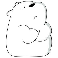 Ice Bear on Behance Cute Panda Wallpaper, Bear Wallpaper, Cute Disney Wallpaper, Cute Cartoon Wallpapers, Stickers Panda, Stickers Kawaii, Cute Stickers, Ice Bear We Bare Bears, We Bear