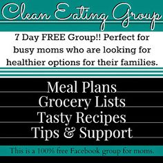 Fit Foodie Forever: Free Clean Eating Groups!! 7 day free group that includes a meal plan, shopping list, recipes, support and motivation! We all have to start somewhere lets do it together!! :)