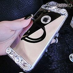 iPhone 6 Plus Case, UnnFiko Beauty Luxury Diamond Hybrid Glitter Bling Soft Shiny Sparkling with Glass Mirror Back Plate Cover Case for Apple iPhone 6 Plus (5.5 Inch) - Retail Packaging (Gold) UnnFiko http://www.amazon.com/dp/B0114KY5P0/ref=cm_sw_r_pi_dp_d0bMwb1WJNT8H