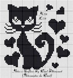 pixel art mickey et minnie Loom Patterns, Crochet Blanket Patterns, Crochet Motif, Cross Stitch Charts, Cross Stitch Patterns, Fillet Crochet, Cross Stitch Animals, Tapestry Crochet, Knitting Charts