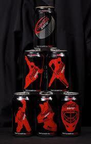 coke zero hockey cans
