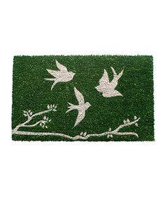 Trio of Birds Nonslip Coir Doormat #zulily #zulilyfinds