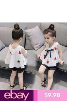Girls' Clothing (Sizes 4 & Up) Kids Toddler Baby Girl T-Shirt Tops+Shorts Pants Summer Outfit Clothes Kids Dress Wear, Kids Gown, Dresses Kids Girl, Kids Outfits Girls, Girl Outfits, Kids Girls, Baby Kids, Kids Frocks Design, Baby Frocks Designs
