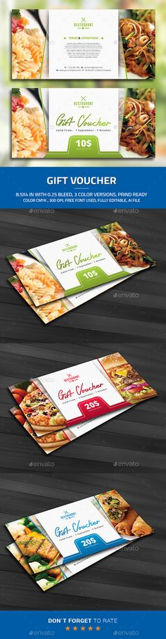 Gift Voucher Template #design Buy and Download…