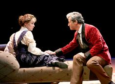 Eliza Doolittle (Lisa O'Hare) and Henry Higgins (Charles Shaughnessy). PHOTO BY PAUL LYDEN