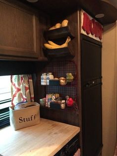 Chic 25 RV Camper Storage For Prepare Summer Vacation - RV Camping is a great family experience. It gives you the ability to drive down the open road, see the s Travel Trailer Organization, Rv Travel Trailers, Camper Trailers, Rv Organization, Camper Van, Travel Trailer Living, Travel Trailer Decor, Travel Camper, Fun Travel