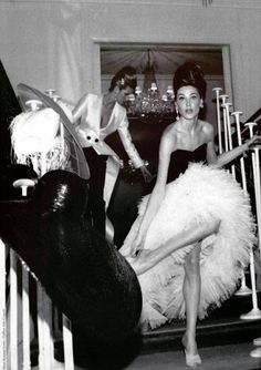 Dior versions of Black & White for evening...60's finery....