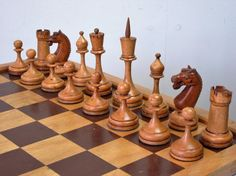 ANTIQUE CHESS SET IMPERIAL RUSSIA EARLY 20th C CLUB SIZE K 118 mm + OLD BOX in Toys & Games, Games, Chess   eBay