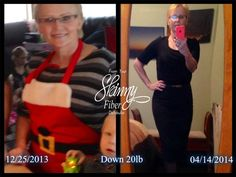 "Fell Free to use  My name is Melanie and this is my Skinny fiber Story. Sorry about the ""before"" picture, I had a better one but my computer crashed and I lost all my pictures. So, this first one was taken at Christmas last year. I have always hated my picture taken yikes lol  Oh well.  I have been on a perpetual diet my whole adult life and have lost weight on every one of them. Who hasn't? The thing is. I could never keep it off. So I started the life of the YOYO dieter. You may have ..."