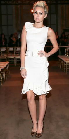 Miley Cyrus attends Marchesa show in NYFW